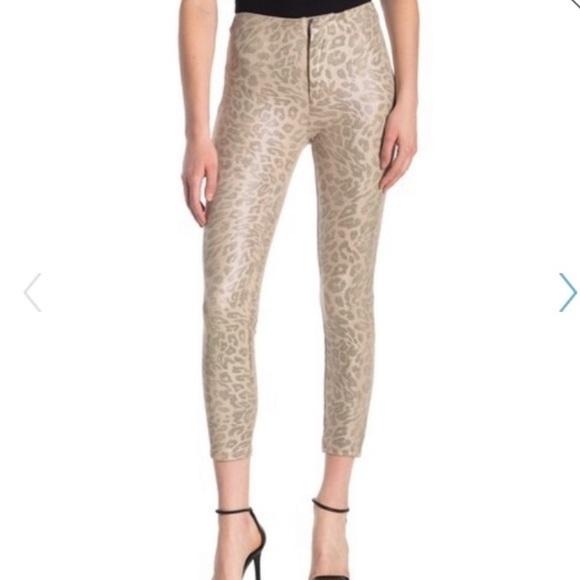 MOTHER Suede Cheetah Pants